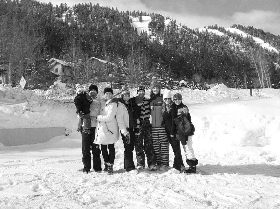 family winter beaver creek snowball fight