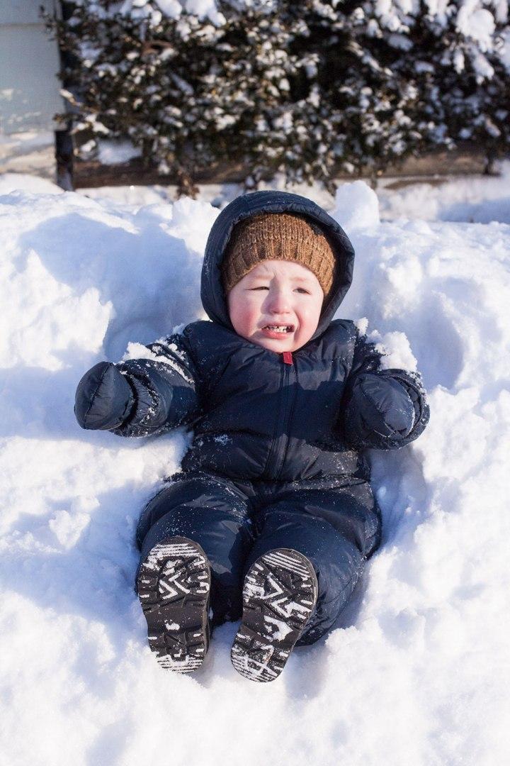 toddler kansas winter big snow day