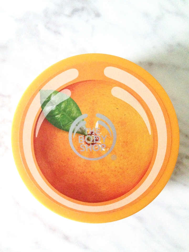 satsuma body butter, scrub, orange, beauty product